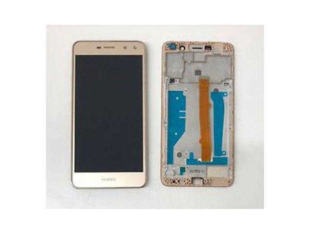 Display cu touchscreen si rama Huawei Y6 2017, MYA-L02, MYA-L03, MYA-L22, MYA-L23 auriu original
