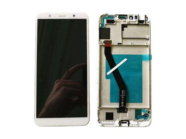 Display cu touchscreen si rama Huawei Y6 (2018), ATU-LX1, ATU-L11, ATU-L21 alb original