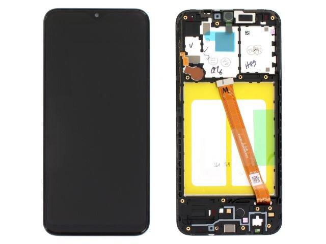 Display cu touchscreen si rama Samsung SM-A202F, Galaxy A20e original