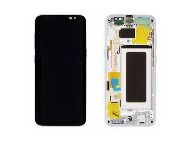 display cu touchscreen si rama samsung sm-g950f galaxy s8 argintiu original