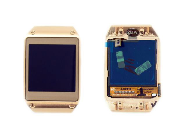 display cu touchscreen si rama samsung sm-v700 galaxy gear auriu original