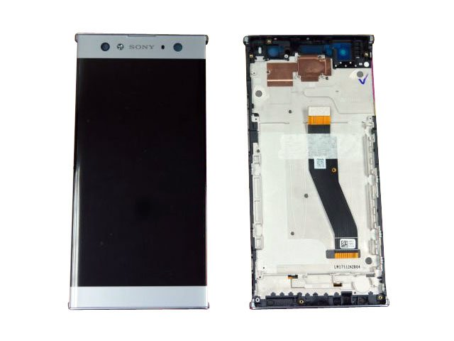 Display cu touchscreen si rama Sony H4213, Xperia XA2 Ultra argintiu original