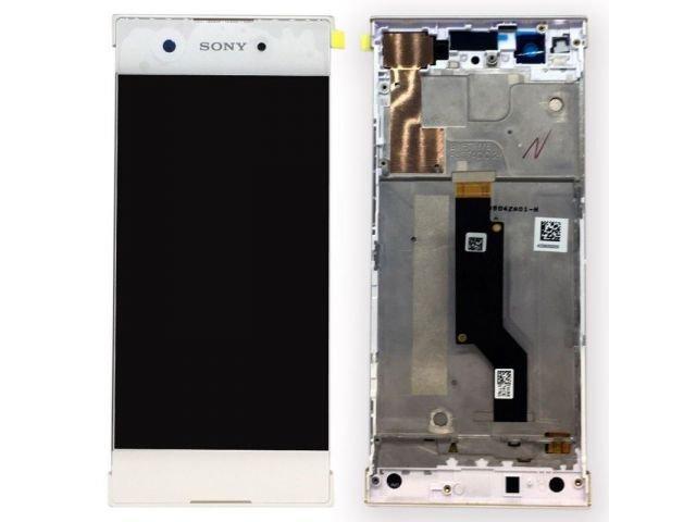 display cu touchscreen si rama sony xperia xa1 g3121 g3123 g3125 xperia xa1 dual g3112 g3116 alb original