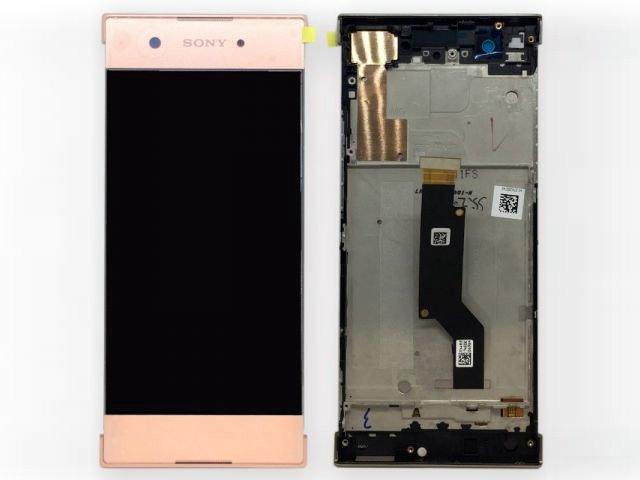 display cu touchscreen si rama sony xperia xa1 g3121 g3123 g3125 xperia xa1 dual g3112 g3116 roz original