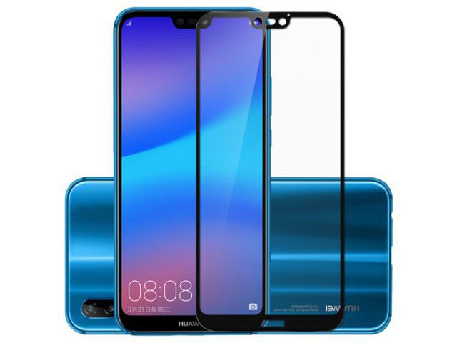 geam protectie 015 mm touchscreen huawei p20 lite ane-lx1 5d curved and full cover negru - transparetent bulk