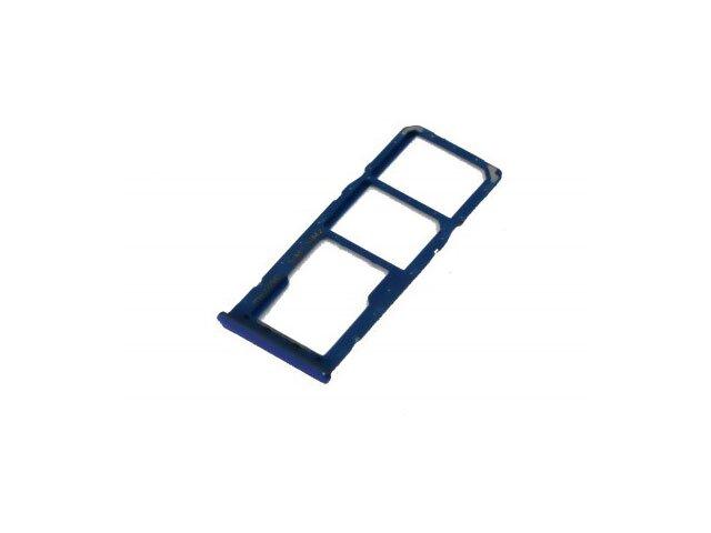 Suport sim si card Samsung SM-A505F Galaxy A50 albastru ORIGINAL