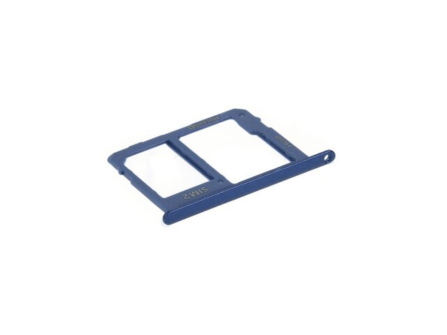 Suport sim si card Samsung SM-A600F Galaxy A6 2018, SM-A605F Galaxy A6 Plus 2018 albastru ORIGINAL
